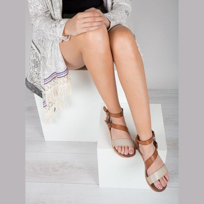 Kožené sandály na výrazné podešvi weinbrenner, hnědá, 566-4627 - 14