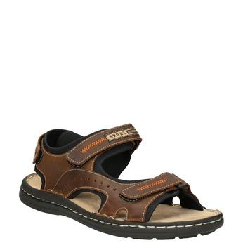Hnědé pánské kožené sandály bata, hnědá, 866-4628 - 13