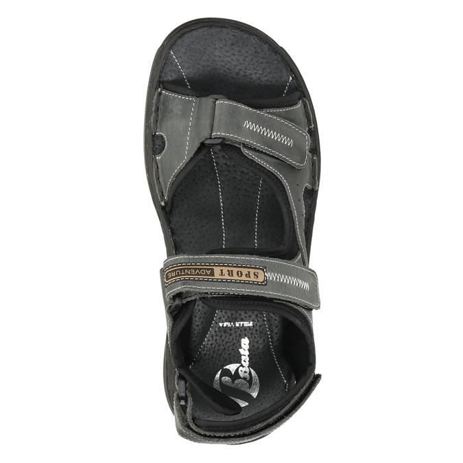 Pánské kožené sandály bata, šedá, 866-2628 - 15