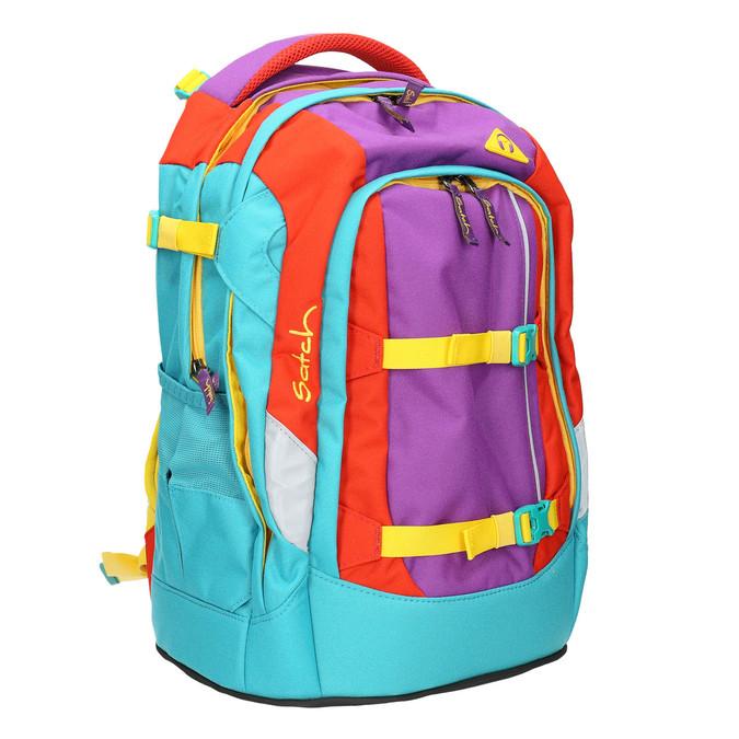 Školní batoh s přezkami satch, tyrkysová, vícebarevné, 969-9062 - 13