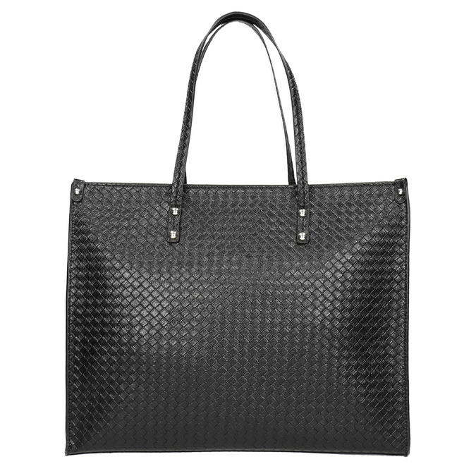 Kabelka s pleteným vzorem bata, černá, 961-6540 - 26