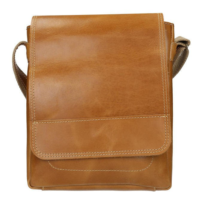 Pánská kožená Crossbody taška bata, hnědá, 964-3283 - 26