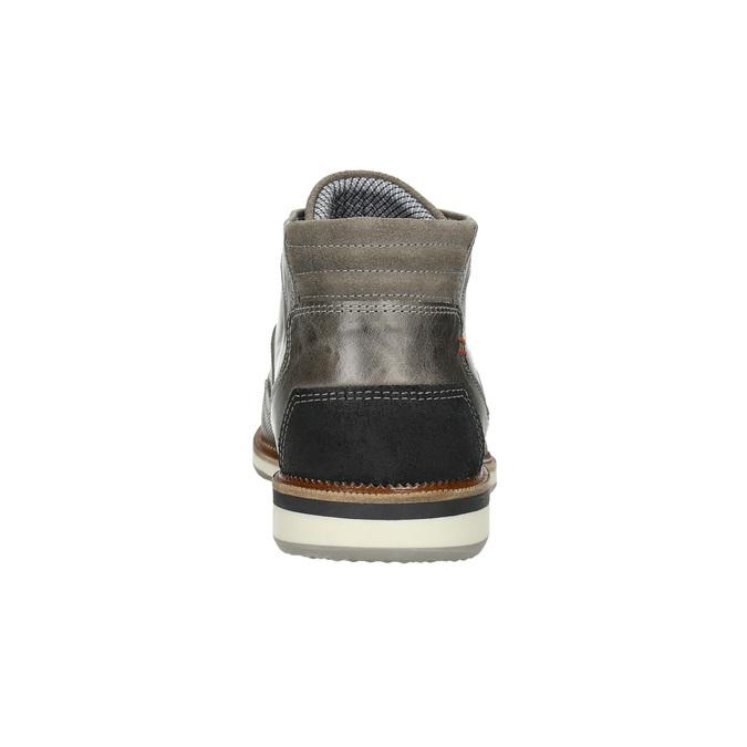 Kožená kotníčková obuv šedá bata, šedá, 826-2912 - 17