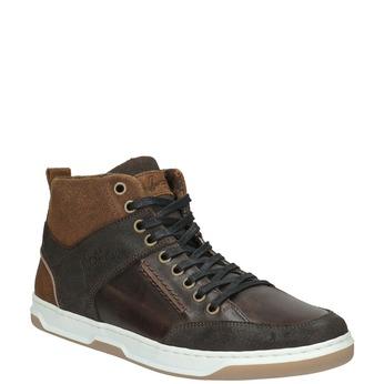 Kožené kotníčkové tenisky bata, hnědá, 846-4640 - 13