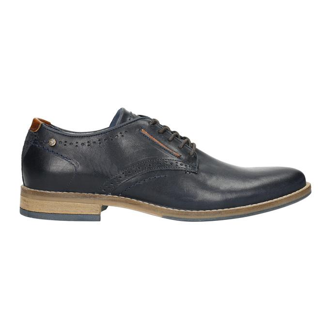 Neformální kožené polobotky bata, modrá, 826-9910 - 15
