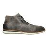 Kožená kotníčková obuv šedá bata, šedá, 826-2912 - 15