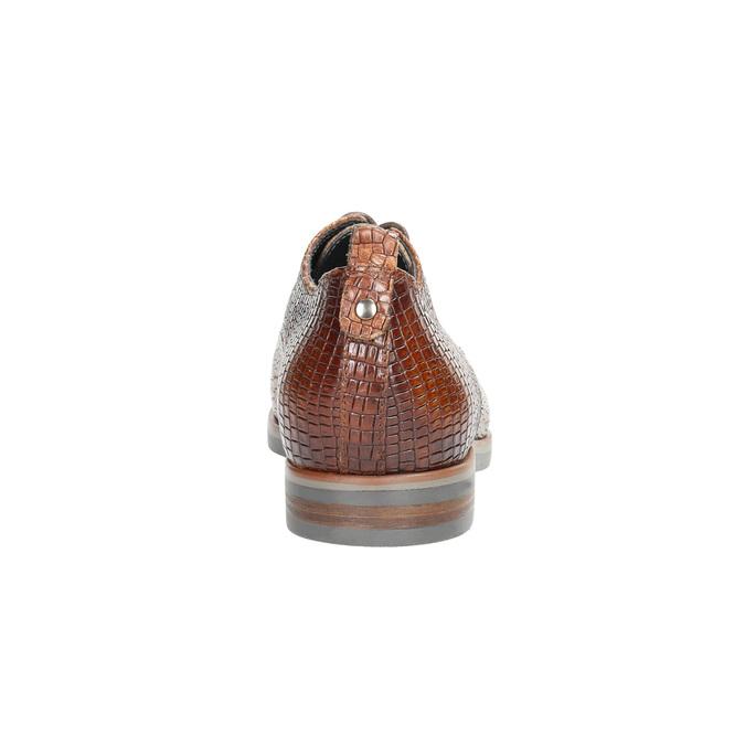 Kožené polobotky se strukturou bata, hnědá, 526-4637 - 17
