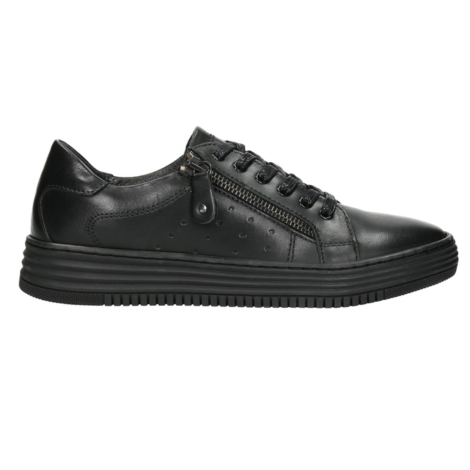 Dámské kožené tenisky bata, černá, 526-6630 - 15
