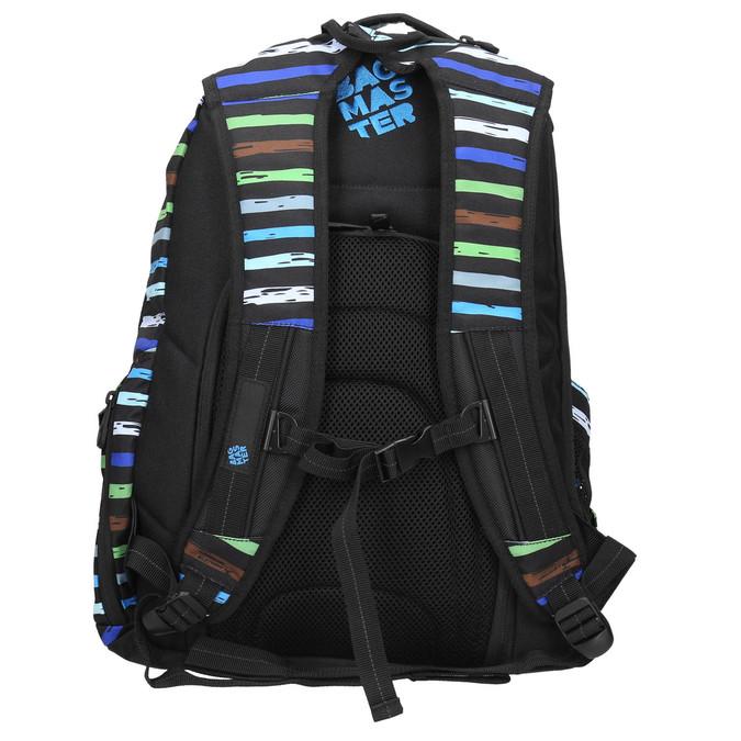 Školní batoh s pruhy bagmaster, modrá, 969-9651 - 19