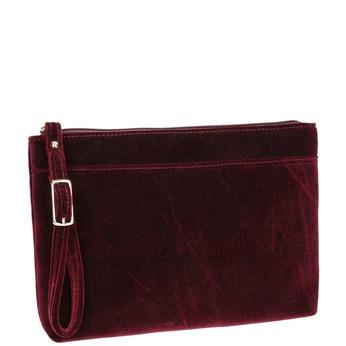 Sametové dámské psaníčko bata, červená, 969-5663 - 13