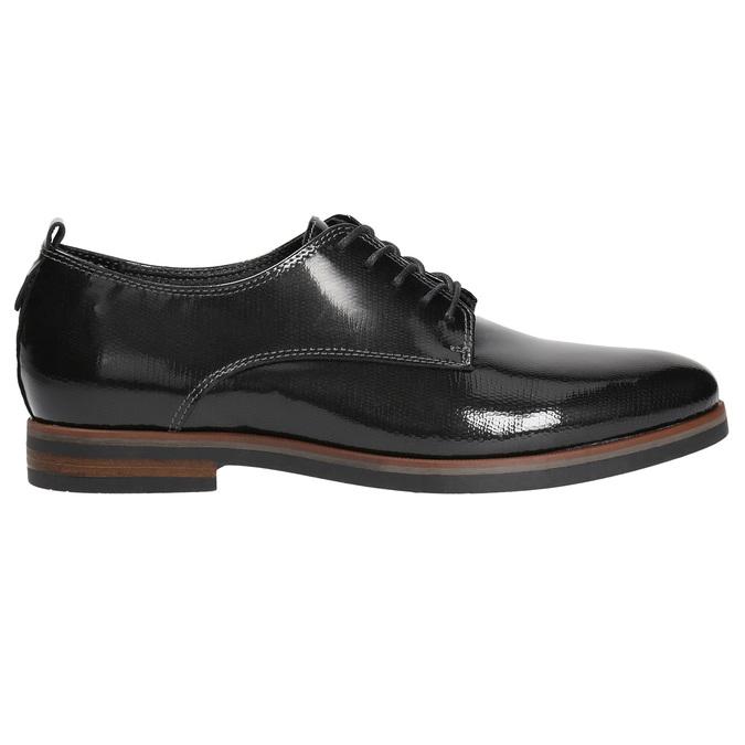 Dámské lakované polobotky bata, černá, 528-4600 - 15