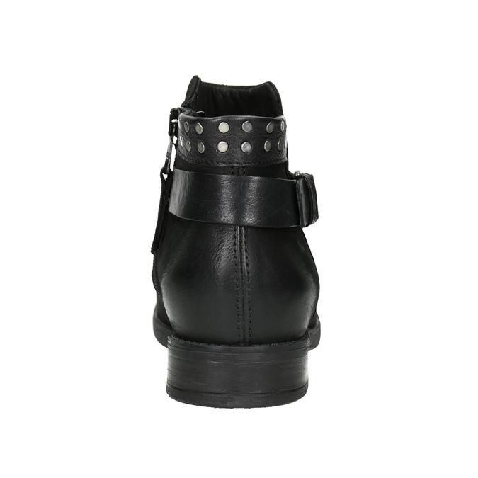 Kotníčkové dámské kozačky se cvoky bata, černá, 596-6658 - 16