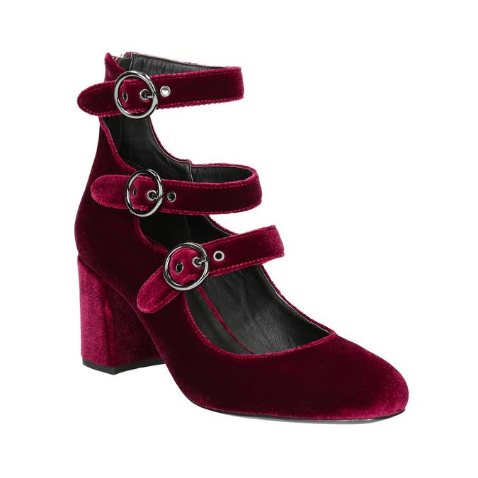 Vínové dámské lodičky s pásky bata, červená, 629-5632 - 13
