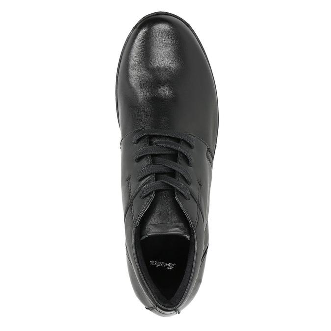 Kožená kotníčková obuv bata, černá, 524-6605 - 26