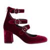 Vínové dámské lodičky s pásky bata, červená, 629-5632 - 15