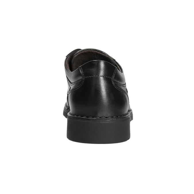 Kožené ležérní polobotky s prošitím comfit, černá, 824-6987 - 17