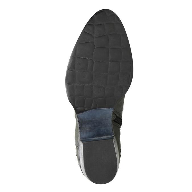 Kožené kotníčkové kozačky bata, šedá, 596-9659 - 17