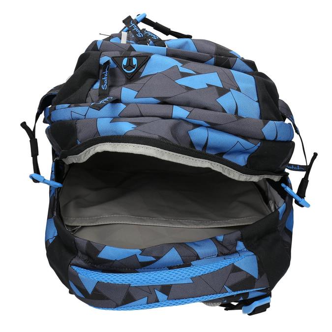 Modrý batoh se vzorem satch, modrá, 969-9049 - 15
