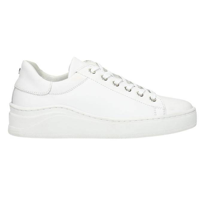 Bílé kožené tenisky bata, bílá, 526-1641 - 15