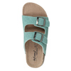 Modré kožené pantofle de-fonseca, tyrkysová, 573-7621 - 19