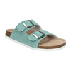 Modré kožené pantofle de-fonseca, zelená, 573-7621 - 13