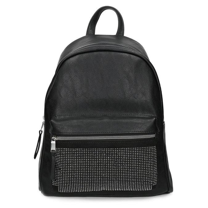 Černý dámský batoh s kamínky bata, černá, 961-6855 - 26