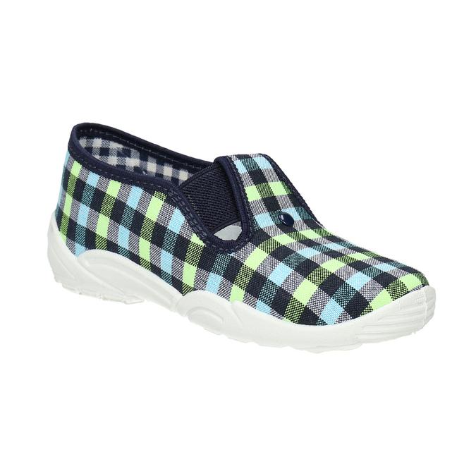 Dětská domácí obuv mini-b, vícebarevné, modrá, 379-0213 - 13