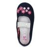 Domácí obuv s kytičkami mini-b, modrá, 379-9215 - 19