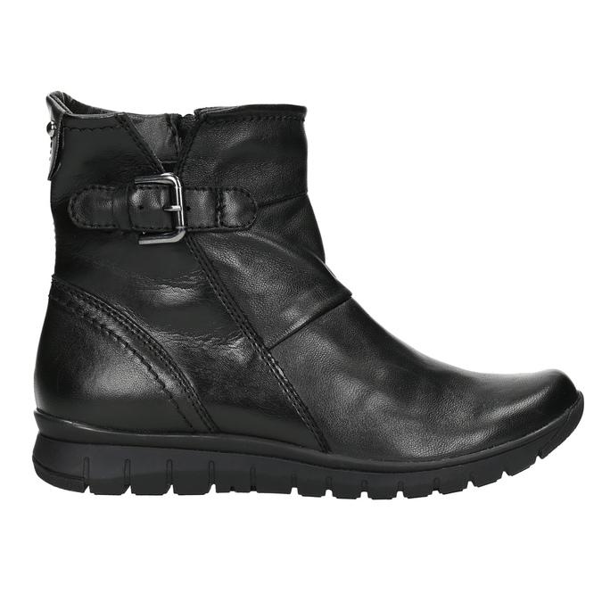 Kožená kotníčková obuv bata, černá, 594-6641 - 15