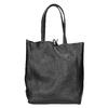 Kožená kabelka v Shopper stylu bata, černá, 964-6122 - 16