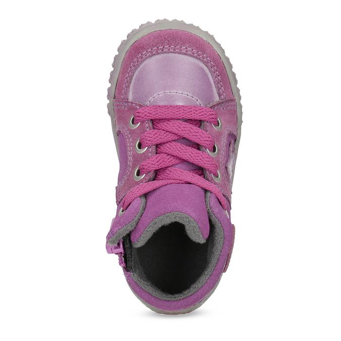 Kožené dívčí tenisky bubblegummers, růžová, 123-5601 - 17