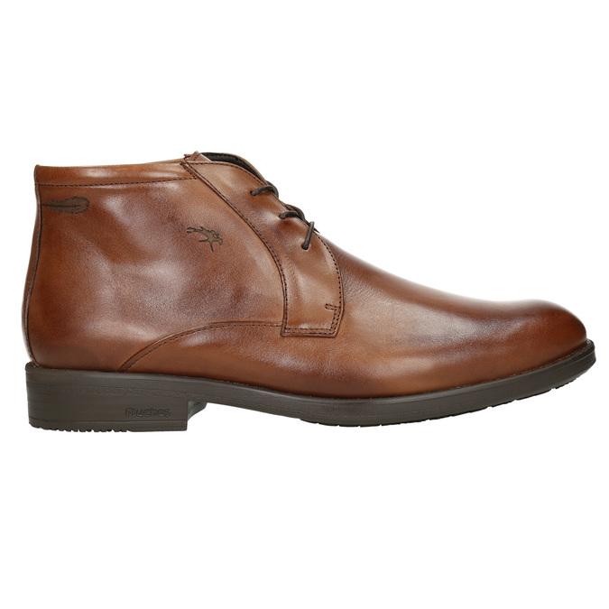 Kožená kotníčková obuv fluchos, hnědá, 826-3086 - 15