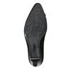 Černé lodičky z broušené kůže gabor, černá, 723-6024 - 17