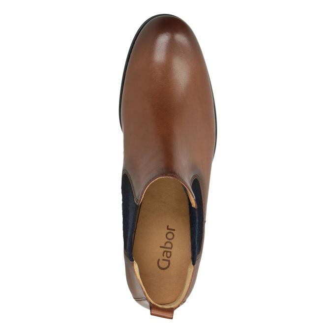 Kožené kotníčkové Chelsea Boots gabor, hnědá, 516-3036 - 15