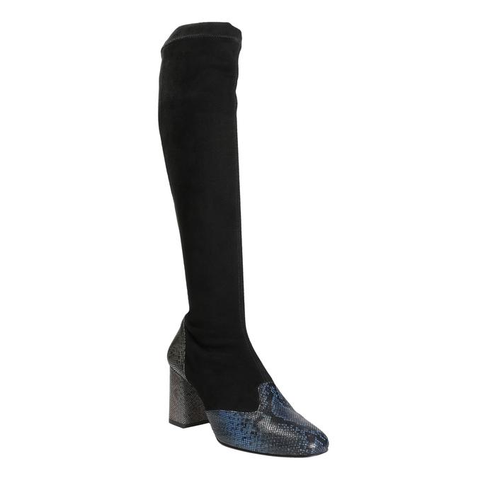 Dámské kozačky na stabilním podpatku classico-and-bellezza, černá, 796-6010 - 13
