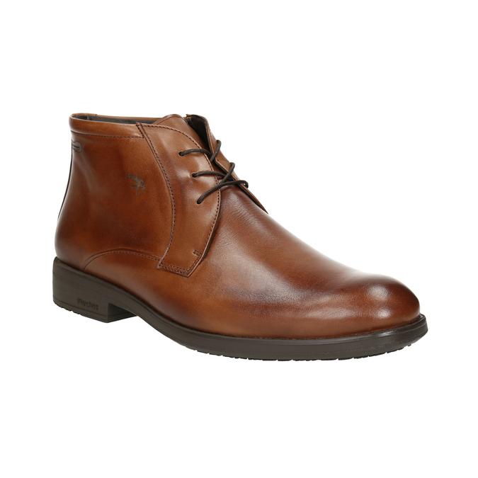 Kožená kotníčková obuv fluchos, hnědá, 826-3086 - 13