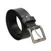 Černý kožený opasek bata, černá, 954-6192 - 13