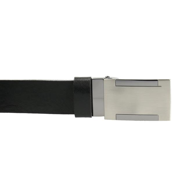 Pánský kožený opasek s kovovou sponou bata, černá, 954-6194 - 26
