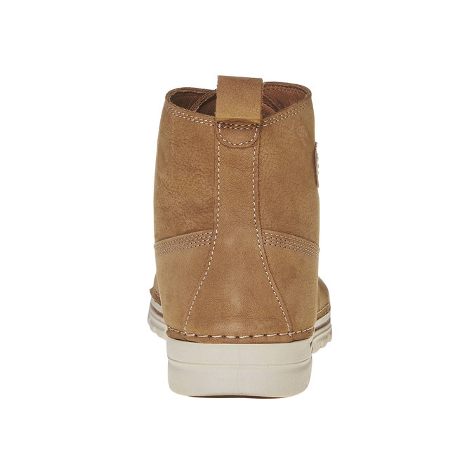 Dámská kožená kotníčková obuv weinbrenner, hnědá, 594-8323 - 17