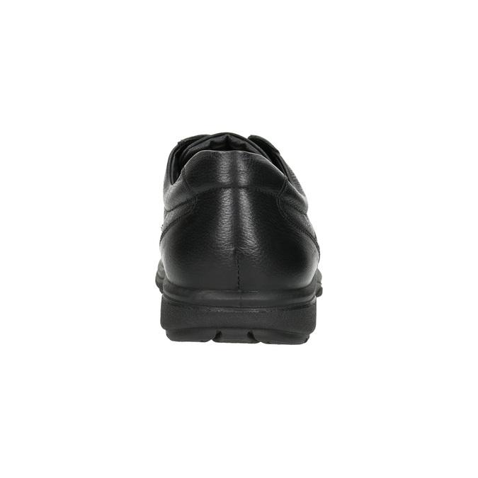 Ležérní kožené polobotky comfit, černá, 824-6912 - 17