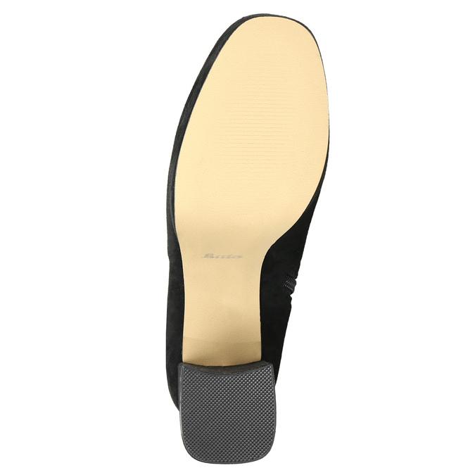 Černé dámské kozačky nad kolena bata, černá, 799-6663 - 19