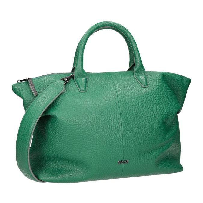 Kožená zelená kabelka bree, zelená, 966-7014 - 13