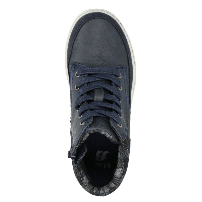 Kotníčková dětská obuv na zip mini-b, modrá, 311-9611 - 19