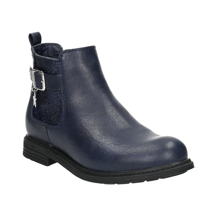 Modrá dětská Chelsea obuv mini-b, modrá, 321-9613 - 13