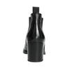 Dámská kožená kotníčková obuv bata, černá, 694-6641 - 17