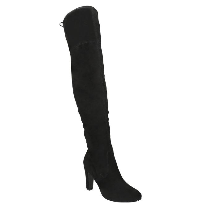 Kozačky nad kolena na podpatku insolia, černá, 799-6618 - 13