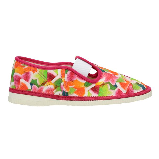 Dívčí domácí obuv se vzorem bata, růžová, 279-5122 - 26