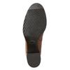 Kotníčková kožená obuv na podpatku bata, hnědá, 694-4641 - 19