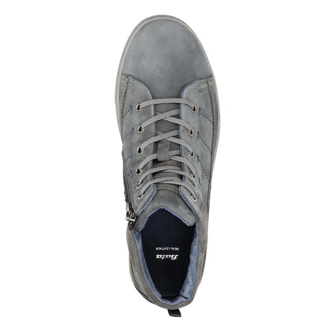 Pánské kotníčkové tenisky bata, šedá, 846-2651 - 26