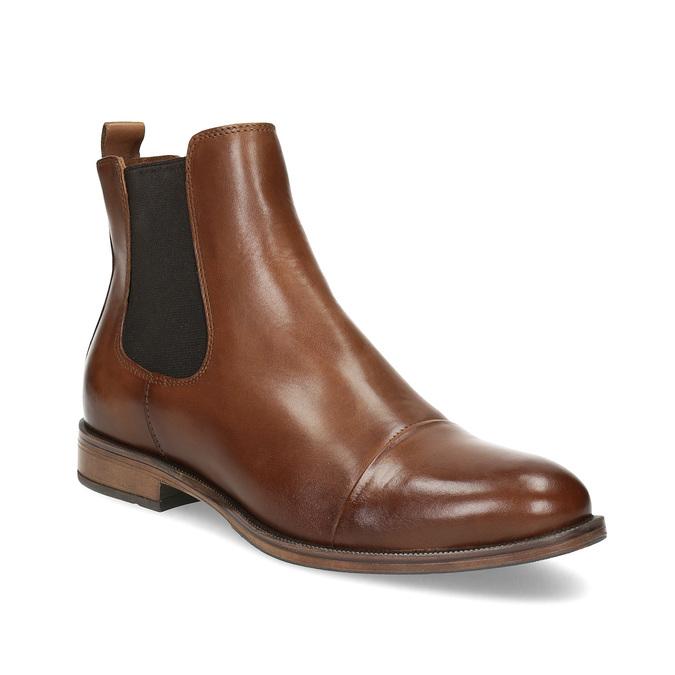 Kožená hnědá dámská Chelsea obuv bata, hnědá, 594-4636 - 13